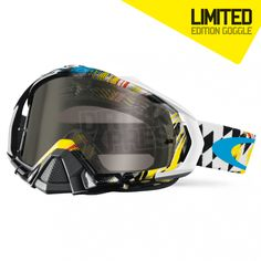 Oakley Mayhem Pro Goggles in Stewart Dark Grey part of the huge Motocross Over Glass Goggle range at Dirtbikexpress.co.uk. Order online now for Free UK Delivery.
