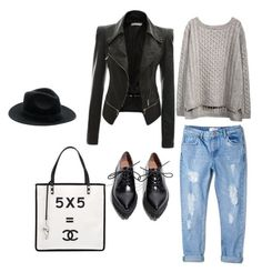 """""""Fall"""" by styledbyk ❤ liked on Polyvore featuring MANGO, Jeffrey Campbell and Chanel"""