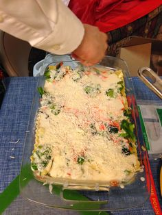 Vegetable lasagna with white sauce. SO GOOD!