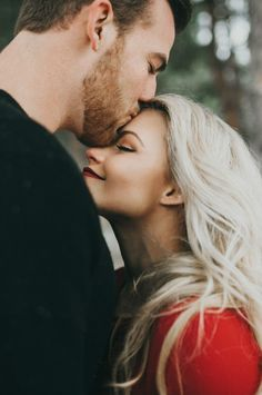 Witney_Carson_Engagements_196 Love the idea of the closeup of the forehead kiss