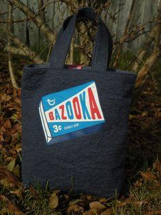 $28.00 Bazooka Bubble Gum Tote Bag by TextileStockpile on Etsy