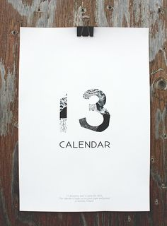 11 designers and 12 prints for Calendar 13. Layout by Sini Henttonen.