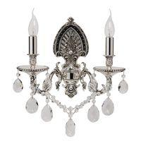 Applique Crystal Noir et Chromé 2x60W Boutica-Design