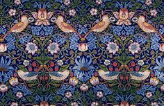 William Morris 18331898 The Strawberry Thief Flower and Bird Pattern 1884 Artsy William Morris Wallpaper, William Morris Art, Morris Wallpapers, Belle Epoque, Art Nouveau, The Strawberry Thief, Whatsapp Wallpaper, Bird Patterns, Floral Patterns