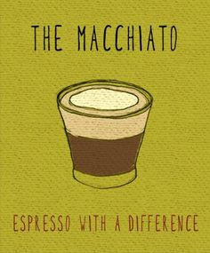 Espresso drink of the moment: the macchiato. (not served with a stitch of caramel. #blamestarbucksfortheconfusion