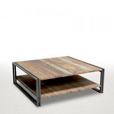 Tables basses sellettes consoles industrielles table - Tables basses industrielles ...