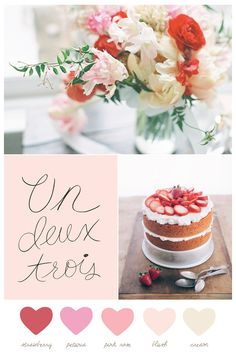 Color Palette: Strawberry + Cream - The Sweetest Occasion | The Sweetest Occasion
