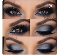 Grey Smokey eyes for a wedding or special occasion has that Smokey color too it but also light enough for a day event