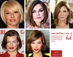 variations on the bob hairstyle