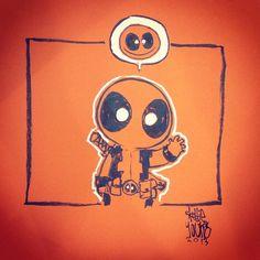 Deadpool by Skottie Young Baby Marvel, Marvel Kids, Marvel Comics Superheroes, Marvel Art, Marvel Characters, Deadpool And Spiderman, Alternative Comics, Young Art, Best Superhero