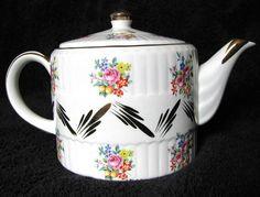 Vintage Ellgreave Staffordshire Heatmaster Teapot Made in England