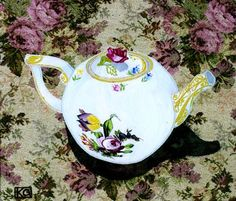 Best Teapot 10 x 8 print on paper by KSGtextileart on Etsy, $41.00