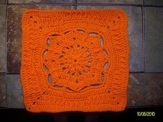 """Winter Burst 12"""" Square - from One Crochet Day at a Time"""