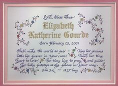 Looking for a unique present for a new baby or child's baptism, christening or adoption?  Call me for more info...