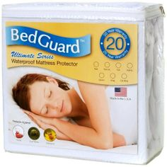 Full Size Bed Guard Ultimate Hypoallergenic and Waterproof Mattress Protector by Bed Guard. $32.11. Dust mites, mold, pet dander, urine are all unable to penetrate the unique barrier in our bed guard ultimate protector. 100% cotton material surface is soft and quiet yet inner barrier allows air to flow freely while maintaining waterproof layer.. 100% Cotton. Expandable skirt fits all mattresses 12 to 18 inch deep.. 100% waterproof membrane barrier. Made in the USA. Mattres...