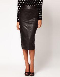 ღ Leather skirt with Zipper detail #perfectbody | shape your ...