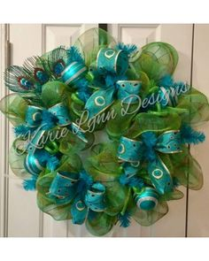 Peacock Wreath | Karie Lynn Designs CraftOutlet.com Photo Contest