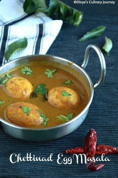 Recipe for spicy chettinad egg curry