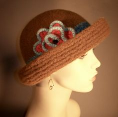 Chocolate Felted Brim Hat by yoursbydesign on Etsy, $69.00