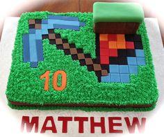 Children's Birthday Cakes - Minecraft