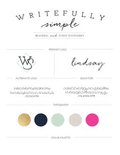 Writefully Simple Branding || Rebrand designed by Writefully Simple