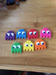 Pac-Man Ghost Perler Bead Art Set by PixelGeekDesigns on Etsy