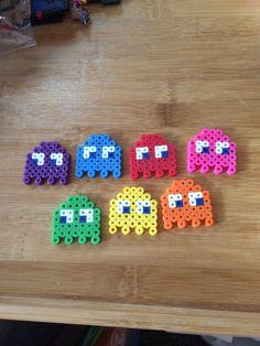 Pac-Man Ghost Perler Bead Art Set by PixelGeekDesigns on Etsy