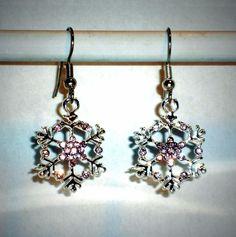 Ohrringe Schneeflocke Damen Ohrschmuck Modeschmuck ohne Stein Metalllegierung