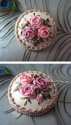 Love the sweet ribbonwork Roses! :)
