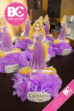 Center piece Rapunzel Tangled Party decoration themed www.facebook.com/Bekacupcakes