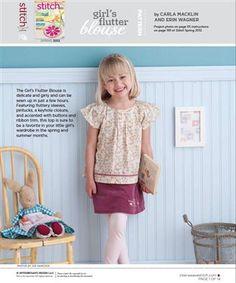 Flutter blouse