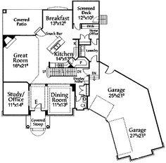 Four Bedroom New American Floor Plan