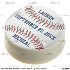 Personalized Baseball Sports Fan Player Wedding Chocolate Dipped Oreo