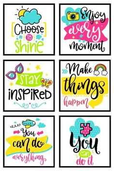 35 Inspirational Classroom Posters Cute to make them in small square printouts for student notes