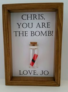 Funny, Boyfriend , girlfriend, friend, gift. You're the bomb. Can be personalise with your names.