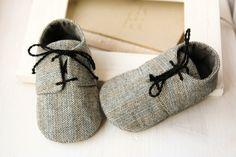 Herringbone scarpe ragazzo bambino grigio di MartBabyAccessories