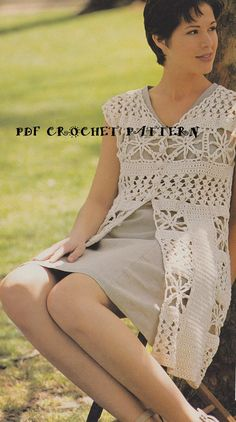 Ladies Crocheted Fantastic Elegance Long by KatnaboxCollection