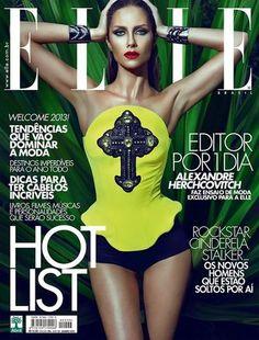 Elle Brazil January 2013 Ana Claudia Michels by Eduardo Rezende