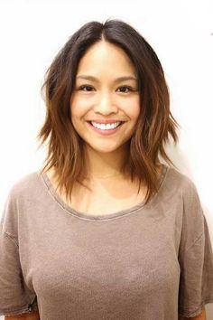 peinados en capas para corto y medio Tamaño del pelo