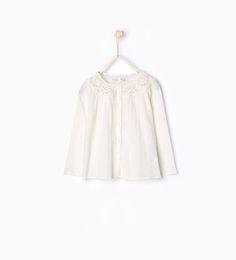 Guipure lace long blouse
