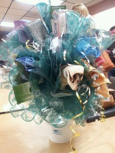 Norwex bouquet! The base is a Sanira Toilet Brush System ($59.99) With other products attached to the Brush!  Great Idea!!! Visit www.christykozar.norwex.biz to order products.