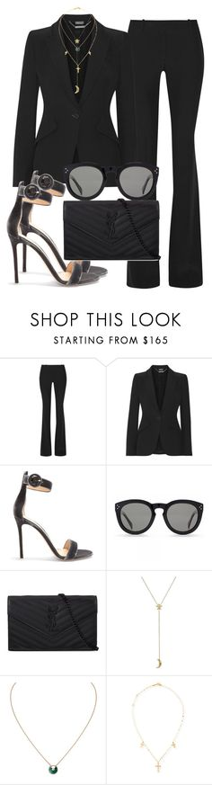 """Sem título #2376"" by mariandradde ❤ liked on Polyvore featuring Alexander McQueen, Gianvito Rossi, CÉLINE, Yves Saint Laurent, Pamela Love, Cartier and Lana"