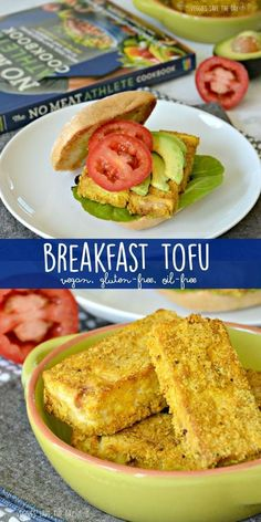 Breakfast Tofu is one of many easy healthy whole food plant-based recipes from The No Meat Athlete Cookbook. Its gluten-free oil-free and vegan. via Veggies Save The Day - Healthy Vegan Gluten-Free Recipes (Gluten Free Recipes Casserole) Tofu Recipes, Whole Food Recipes, Cooking Recipes, Healthy Recipes, Free Recipes, Cookbook Recipes, Yummy Recipes, No Meat Athlete Cookbook, Vegan Vegetarian