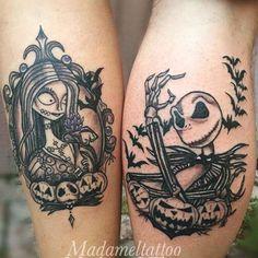 Nightmare before Christmas couples tattoo