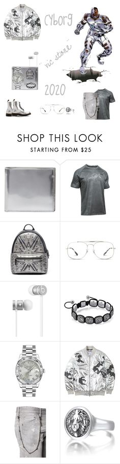 """Cyborg Film 2020"" by ohitsjanedoe ❤ liked on Polyvore featuring Maison Margiela, Under Armour, MCM, Ray-Ban, Beats by Dr. Dre, Rolex, Dsquared2, men's fashion and menswear"
