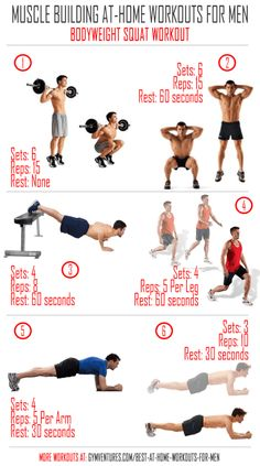 At Home Workouts for Men Bodyweight-Squat-Workout