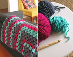 A simple and speedy crochet project, great for newbies and advanced crocheters alike - make your own giant granny square blanket that is ideal for snuggling!