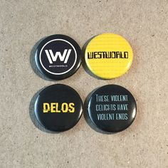 HBO Westworld Quotes Fan Art 4  1 Inches Pinback by RegretFactory