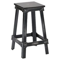 Office Star New Castle Metal Bar Stool in Antique Bla… 26 Bar Stools, Black Counter Stools, Metal Bar Stools, Iron Furniture, Furniture Legs, Furniture Movers, Office Star, Vintage Industrial Furniture, Industrial Style