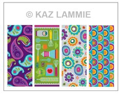 My set of pattern magnets...I loved designing these! :)